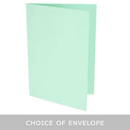 A6 Mint Green Card Blank with choice of envelope