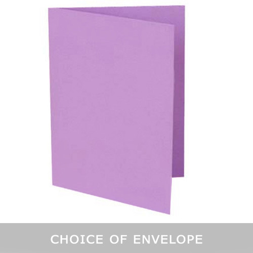 A6 Purple Mist Card Blank with choice of envelope