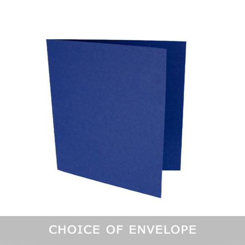 Large square midnight blue matte card blanks with envelopes