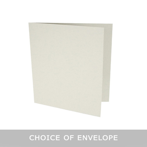 Large square pale grey matte card blanks with envelopes