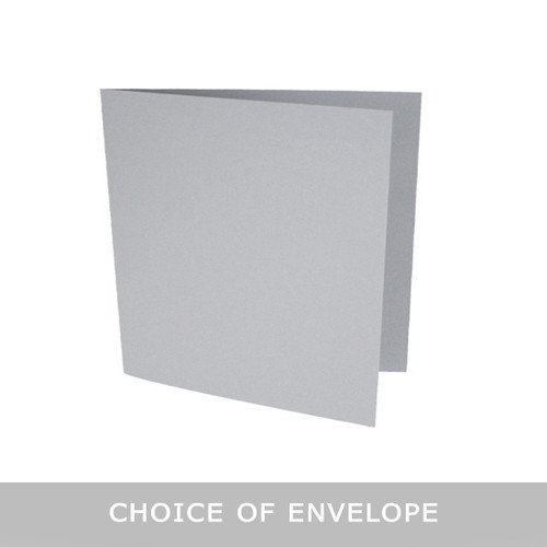 Large square storm grey matte card blanks with envelopes