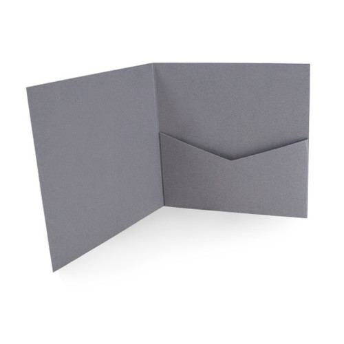 Grey Matte Pocketfold Cards & Envelopes