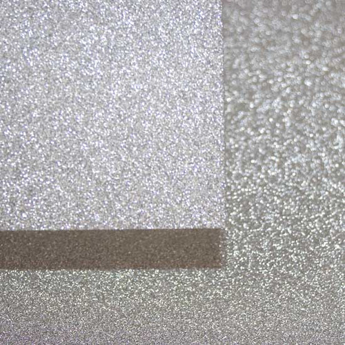 A4 Glitter Card, Silver Grey (non shedding)