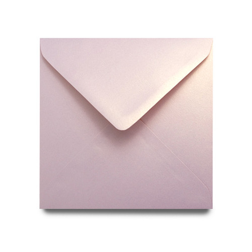 Square 155mm rose gold dust pearl envelope