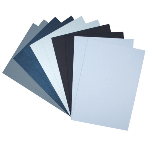 A4 Shades of blue mixed paper pack