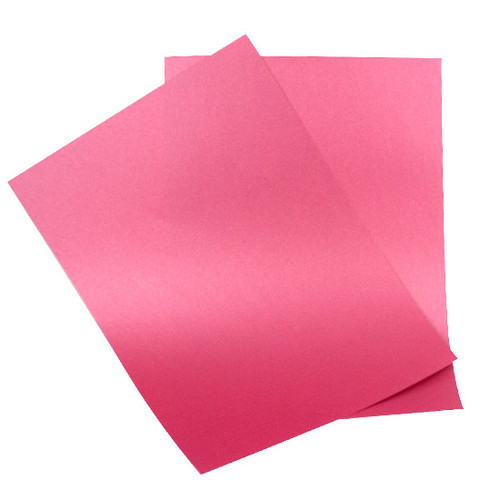 A4 raspberry pearlescent paper