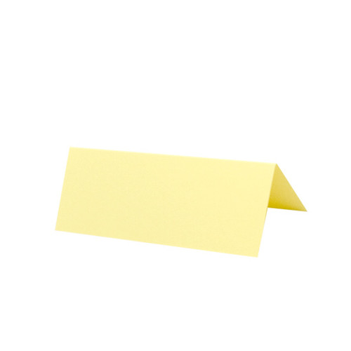 Place Cards, Pale Yellow Matte
