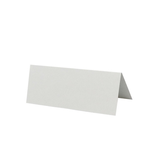 Place Cards, Silver Grey Matte