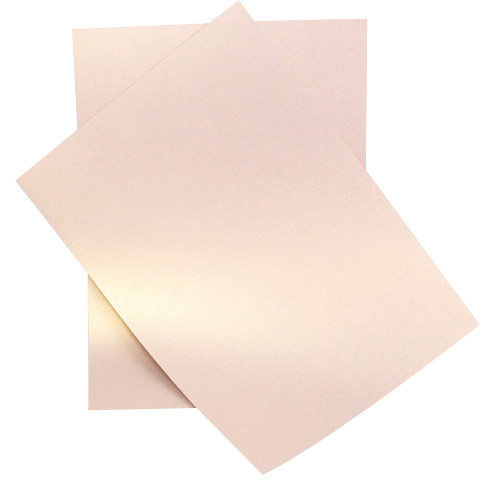 A4 Pearl Paper, Rose Gold Dust 125gsm