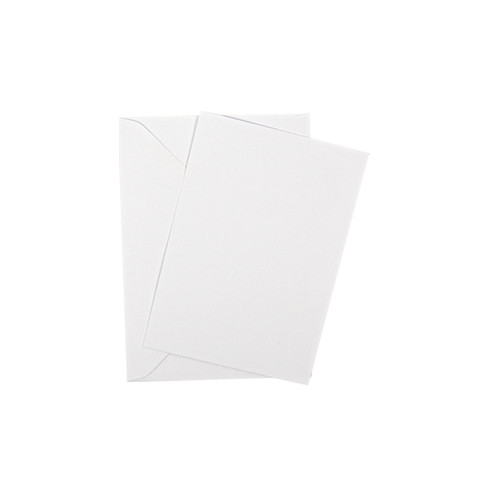 A7 Postcard Blanks with Envelopes, White Matte 260gsm