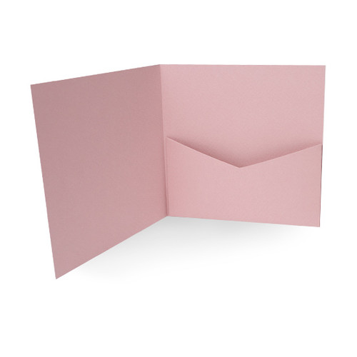 Pocketfold Cards with Envelopes, Dusky Pink Matte