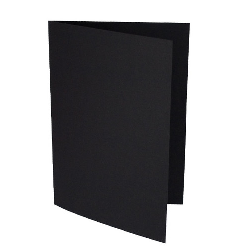 A5 Card Blanks, Black Matte
