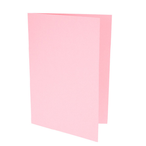 A5 Pastel pink card blanks