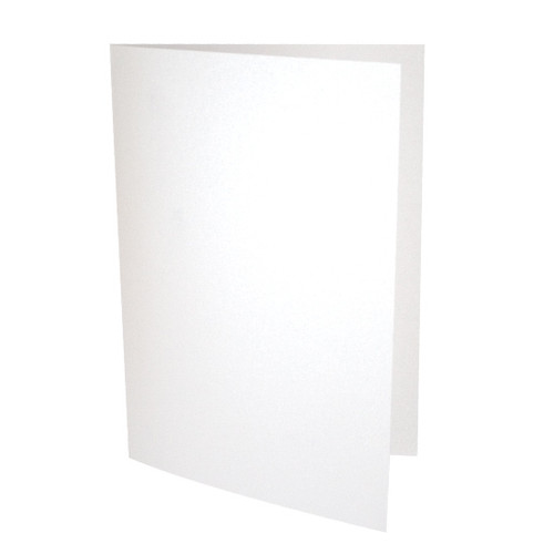 A5 Ice white pearl card blanks