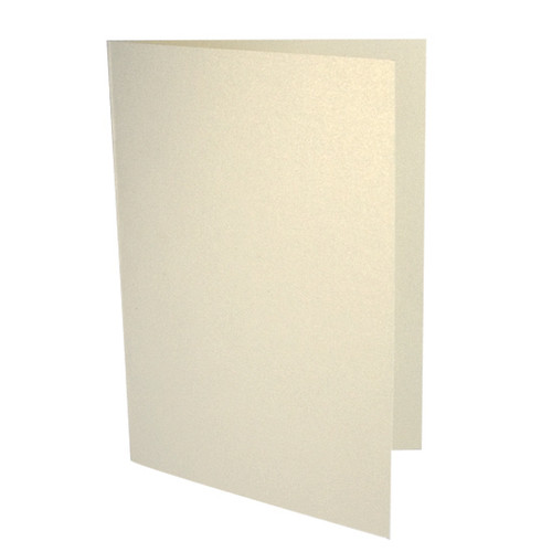 A5 Ivory gold dust pearl card blanks