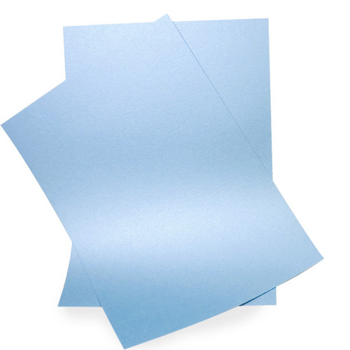 A6 Pearl Card Sheets, Sky Blue (50 pack)