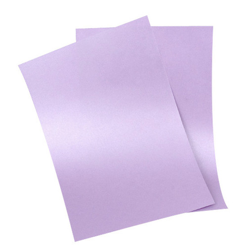 A6 Pearl Card Sheets, Amethyst (50 pack)
