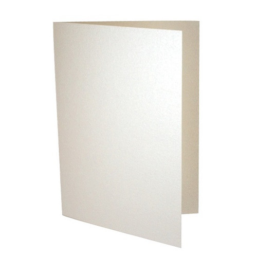 A5 Ivory white pearl card blanks