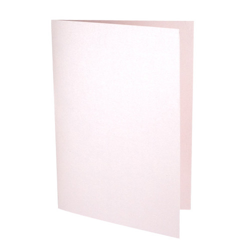 A5 Pale pink pearl card blanks