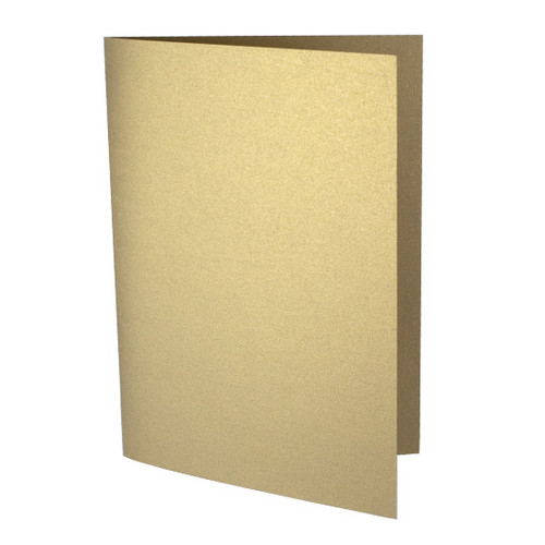 A6 Antique gold pearl card blank