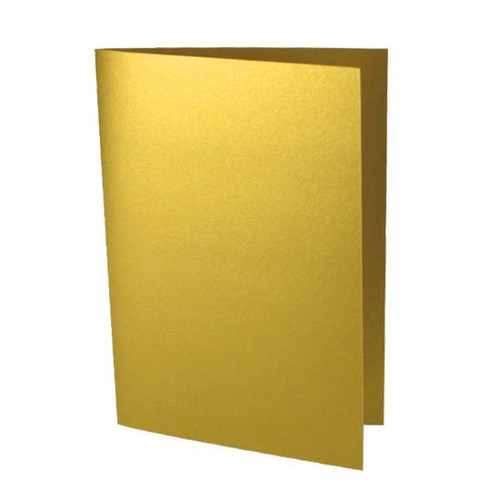 A6 Gold pearl card blank