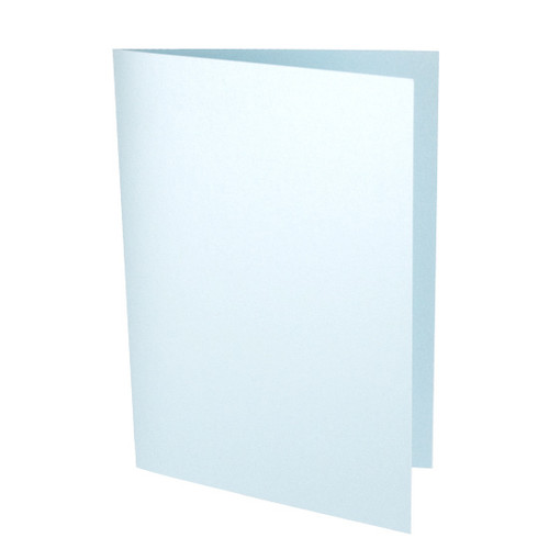 A6 Pale Blue Pearl Card Blank