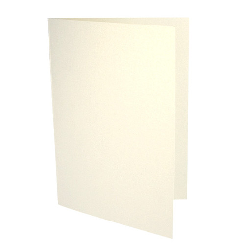 A6 Card Blanks, Ivory Gold Dust Pearl