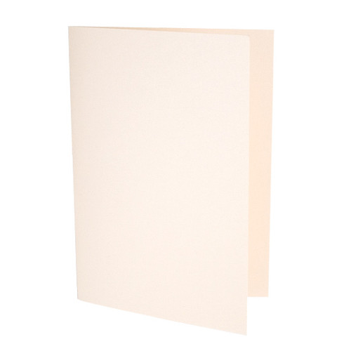 A6 Pale coral pearl card blank