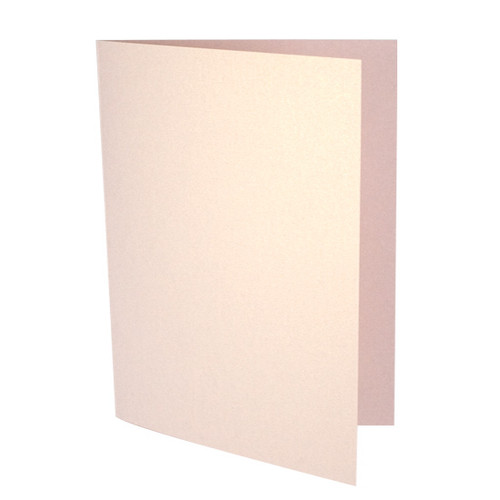 A6 Rose gold dust pearl card blank