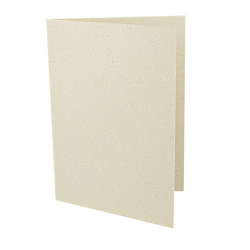 A6 Recycled ivory grain card blank