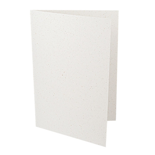 A6 Recycled white grain card blank