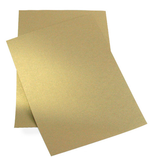 A5 Pearl Card Sheets, Antique Gold (50 pack)