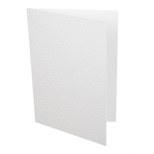 A5 White textured card blanks