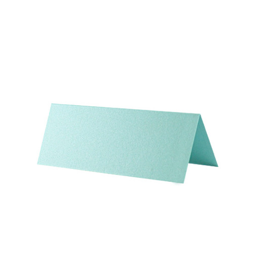 Place Cards, Lagoon Green Pearl