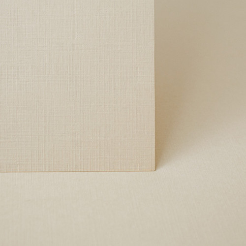 A4 almond linen embossed card