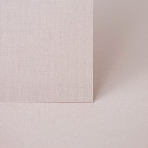 A4 Blush pink linen embossed card