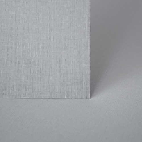 A4 Storm grey linen embossed card