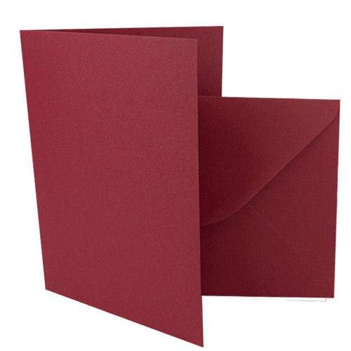 A5 Claret card blanks with envelopes