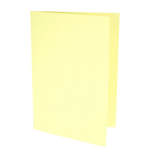 A6 Pale yellow card blank