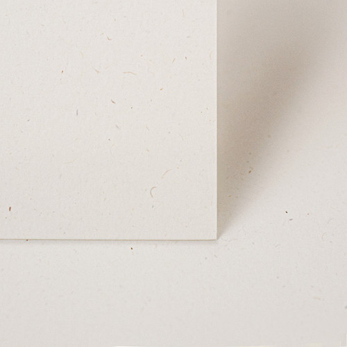 A4 Recycled eco fleck off white card
