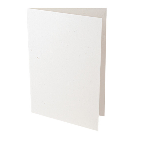 A5 Card Blanks, Recycled Eco Fleck, Aged White