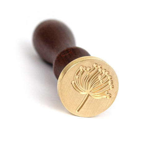 Dandelion Seed Wax Seal Stamp and Handle