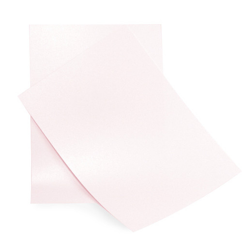 A4 Palest pink pearlescent paper