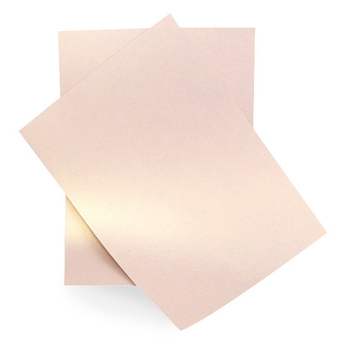 A5 Rose gold dust pearl card sheets