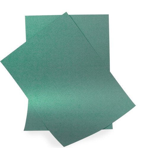A5 Pearl Card Sheets, Majestic Green