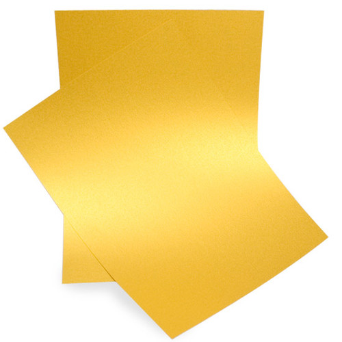 A5 Pearl Card Sheets, Indian Gold