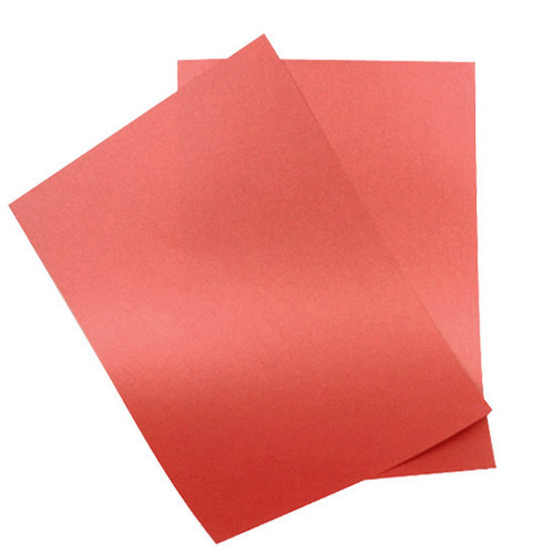 A6 Imperial red pearl card sheets