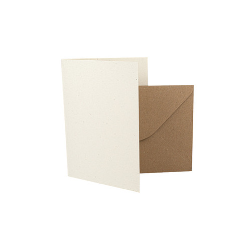A7 Card Blanks, Recycled Ivory Fleck & Kraft Envelopes