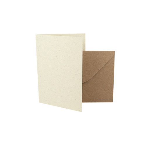 A7 Card Blanks, Recycled Ivory Grain & Kraft Envelopes