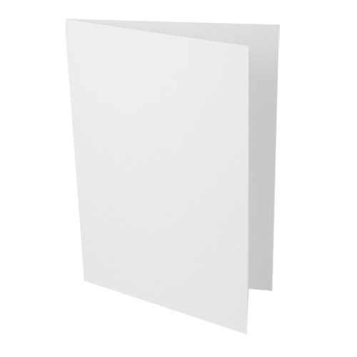 A6 Recycled white card blank